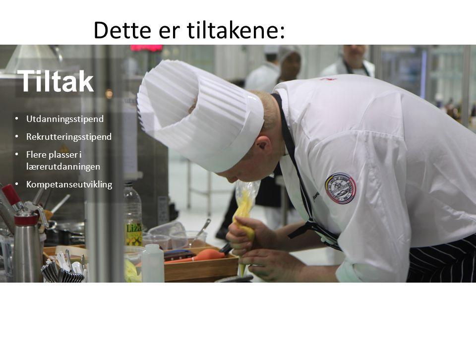 Norsk mal: Tekst med kulepunkter - 2 vertikale bilder Dette er tiltakene: Tiltak Utdanningsstipend Rekrutteringsstipend Flere plasser i lærerutdanningen Kompetanseutvikling