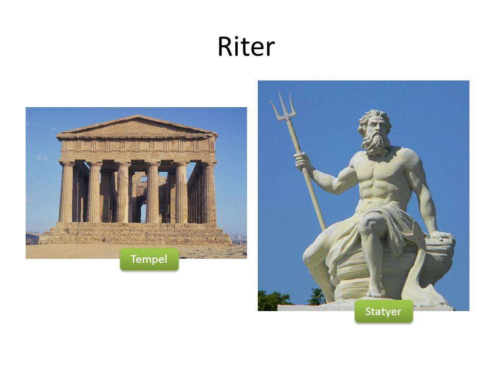 Riter Tempel Statyer