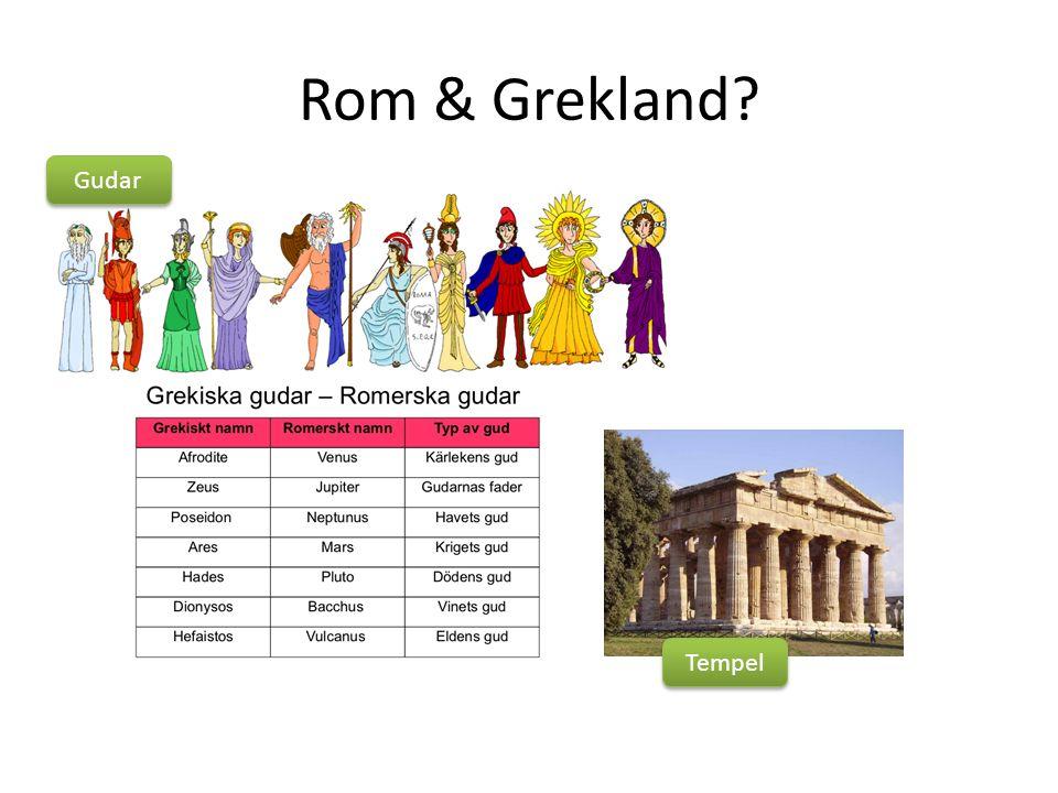 Rom & Grekland Tempel Gudar