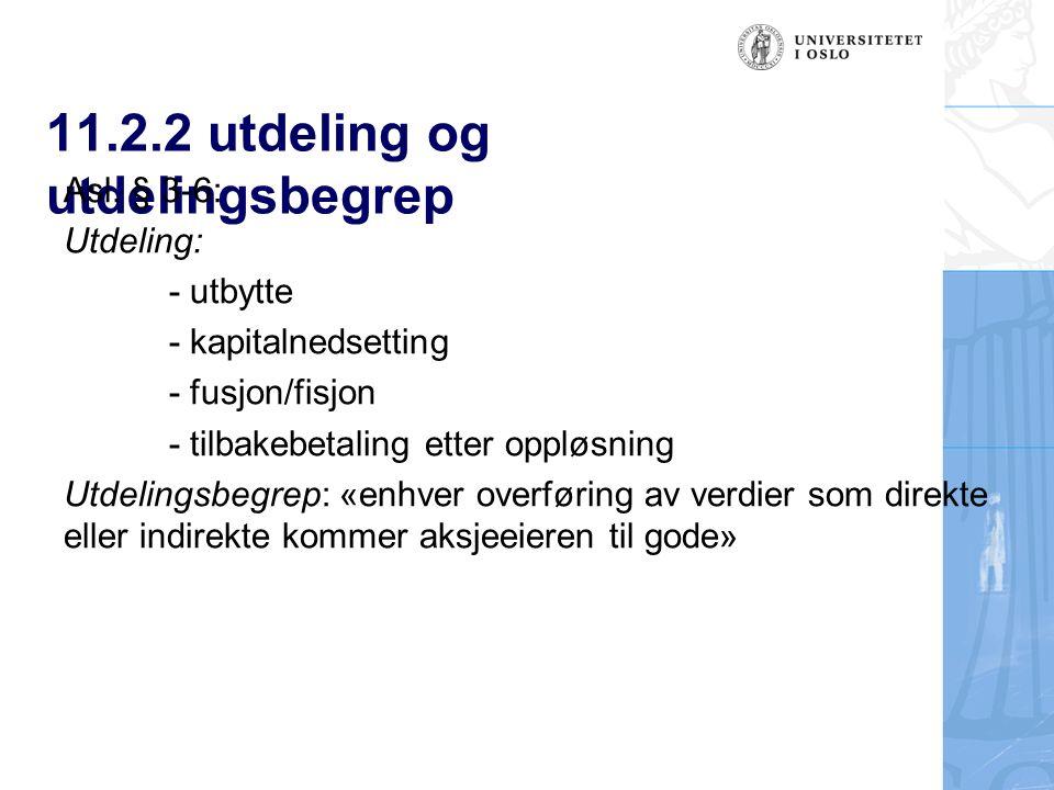 11.2.2 utdeling og utdelingsbegrep Asl.