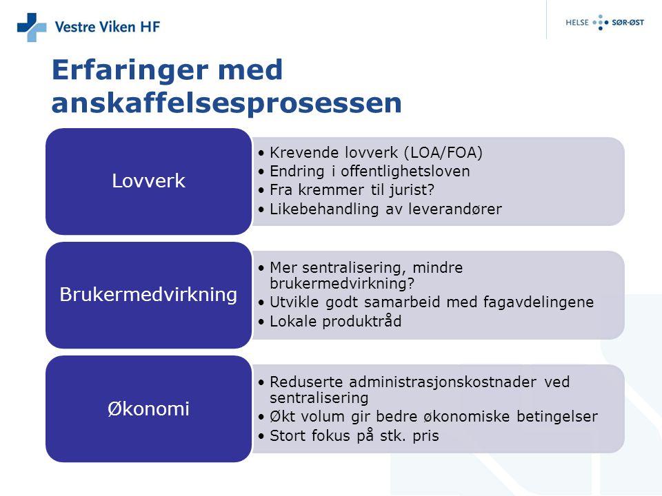 Erfaringer med anskaffelsesprosessen Krevende lovverk (LOA/FOA) Endring i offentlighetsloven Fra kremmer til jurist.