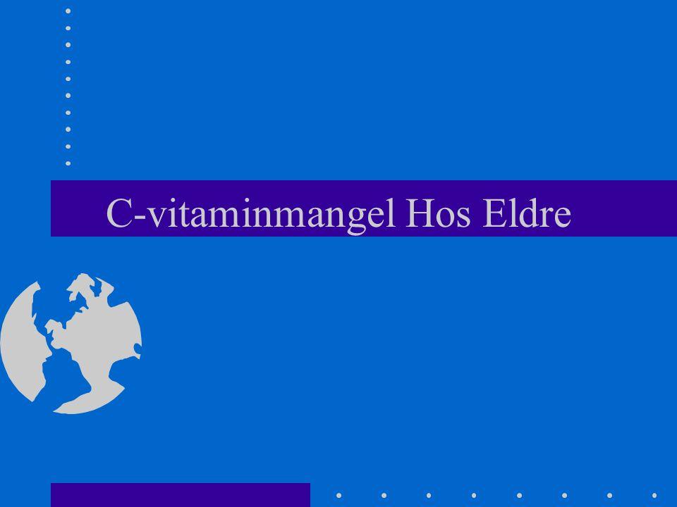 C-vitaminmangel Hos Eldre