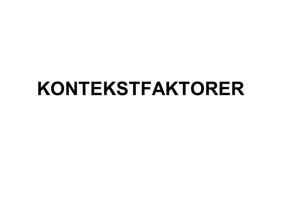KONTEKSTFAKTORER