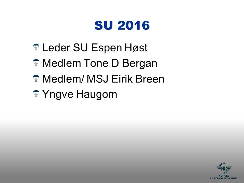 SU 2016 Leder SU Espen Høst Medlem Tone D Bergan Medlem/ MSJ Eirik Breen Yngve Haugom