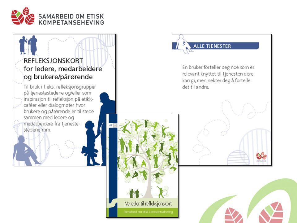Refleksjonskort med bilder som har tema fra rus og psykiatri.