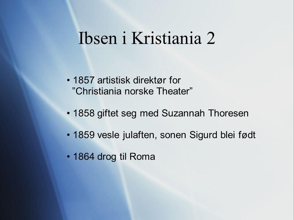Ibsen si dikting forma ofte skodespela i hovudet først diktet menneske og menneskelagnad IKKJE gode roller sentralt emne: kvinna sitt opprør imot den konvensjonelle moral - ikkje kvinnesak men menneskesak