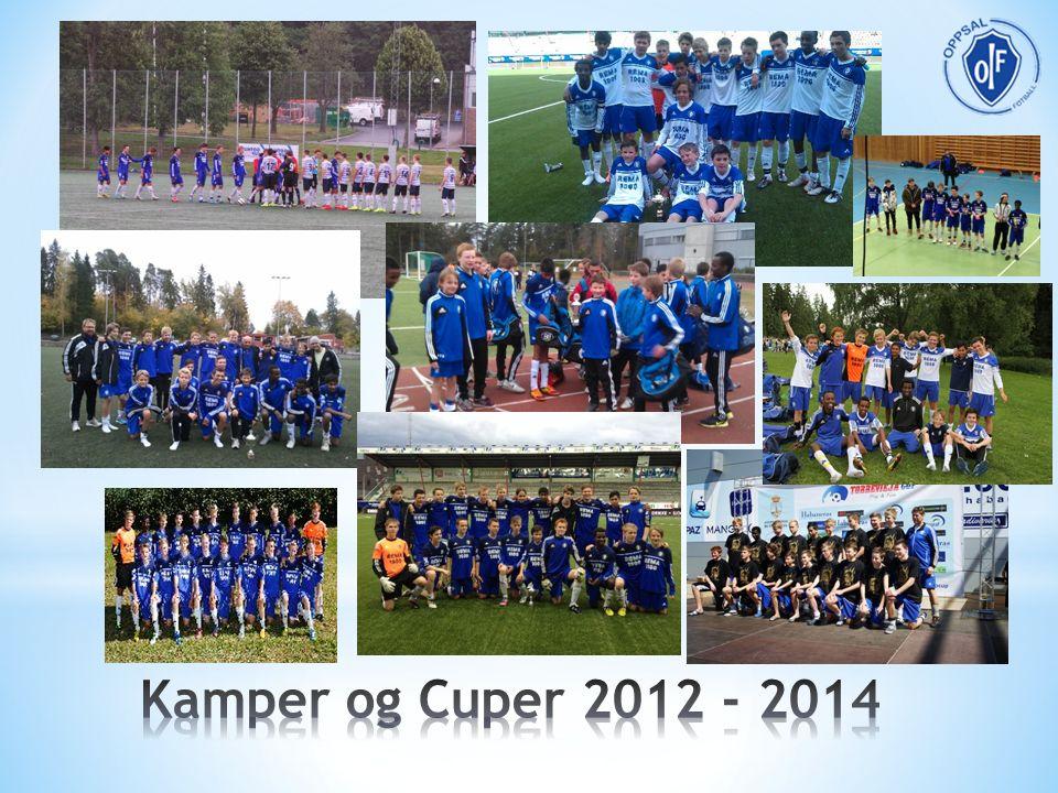 Adidas cup Briskeby cup * 2 -Final 2012 og 2013 Futsal Cup (KFUM) * 2 -Finale 2012, Semifinal 2013 Fjellhamar vinterserie Gothia cup *3 -B 1/64, B 1/32, B 1/16 Grorud cup Grüner Cup (Bredde) Norway cup OBOS cup * 2 -Semifinale 2014 Rema 1000 cup Seriekamp -Opprykk 1.div 2013 Treningskamper -26 stk Torrevieja cup * 2 Ullern Cup Ullern Cup (Bredde) Vålerenga cup Vänersborg cup
