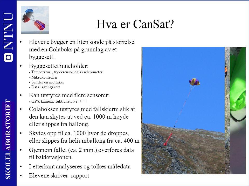 11 SKOLELABORATORIET Hva er CanSat.