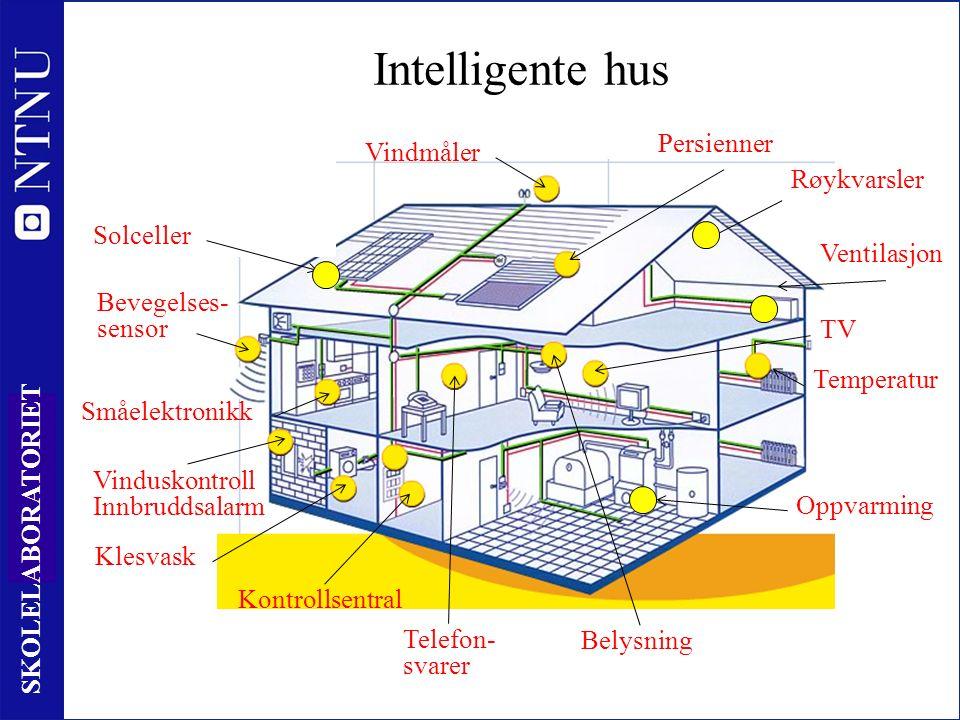 16 SKOLELABORATORIET Intelligente hus Solceller Vindmåler Persienner Bevegelses- sensor Vinduskontroll Innbruddsalarm Ventilasjon Oppvarming Kontrollsentral Klesvask Telefon- svarer Belysning Småelektronikk TV Røykvarsler Temperatur