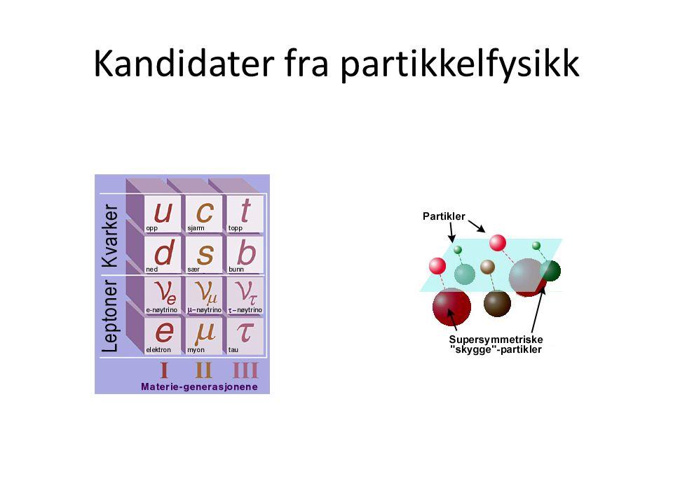 Kandidater fra partikkelfysikk