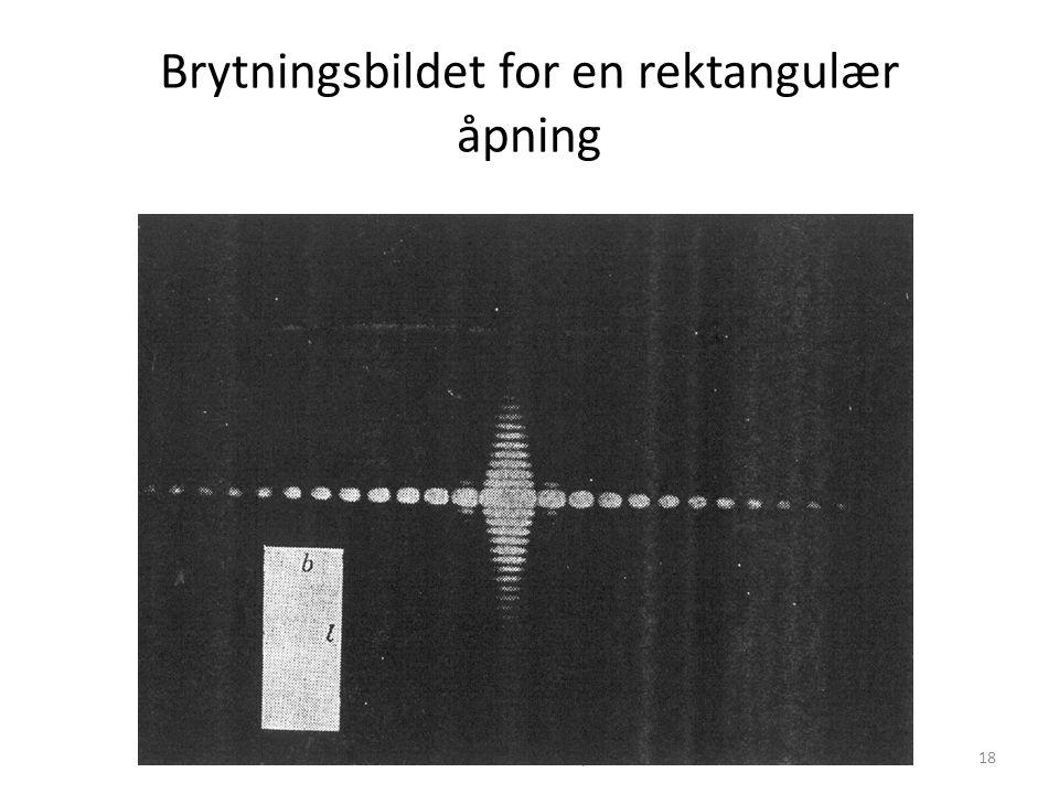 AST1010 - Teleskoper18 Brytningsbildet for en rektangulær åpning