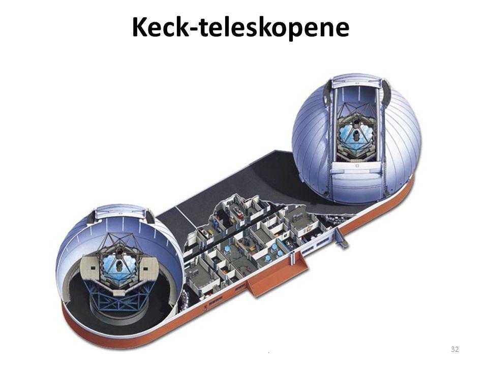 AST1010 - Teleskoper32 Keck-teleskopene