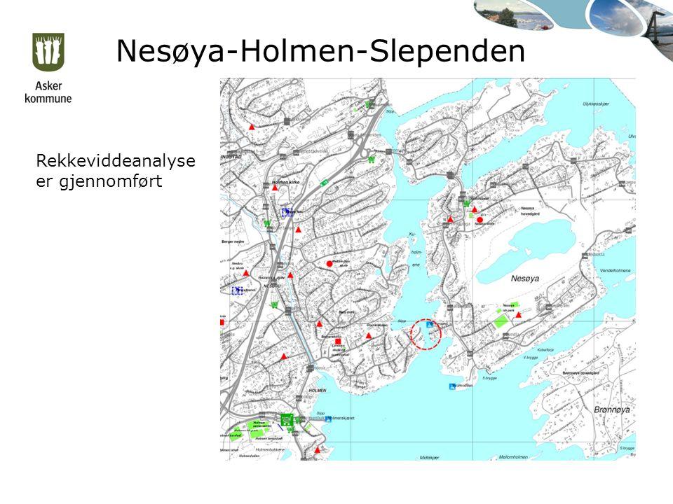 Nesøya-Holmen-Slependen Rekkeviddeanalyse er gjennomført