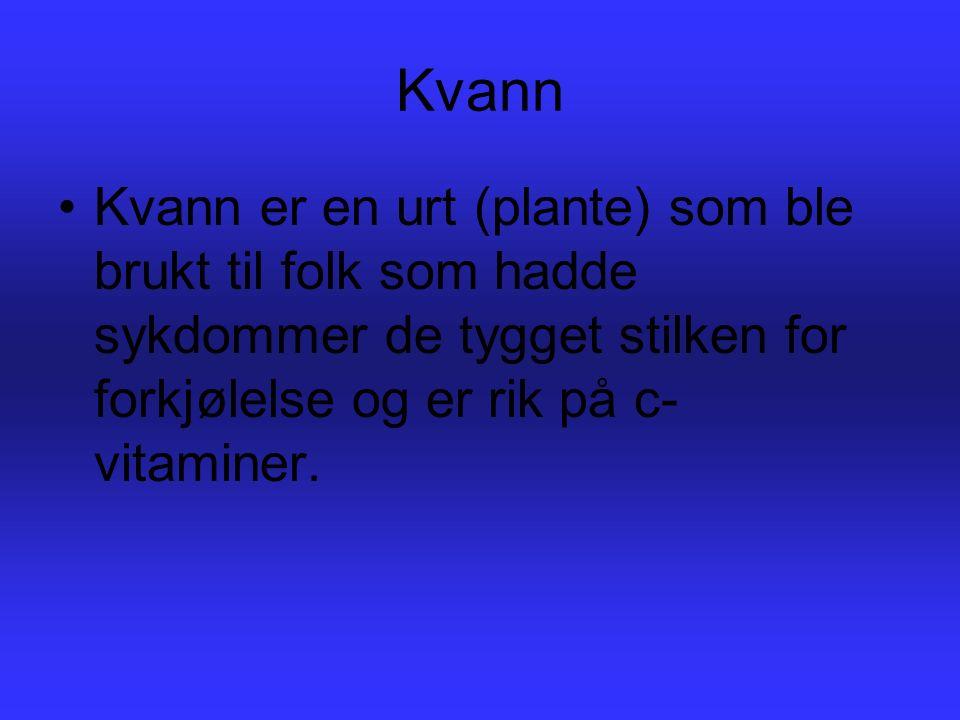 Kvann vokser fritt i Norge og på Island, og det brukes til smakstilsetter på og energitilskudd i kostholdet.