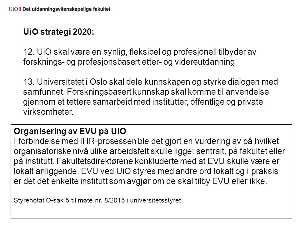 UiO strategi 2020: 12.