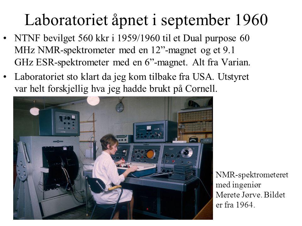 Arbeidsoppgaver Laboratoriet var åpent for alle i Norge, men SI var avhengig av betalte oppdrag.