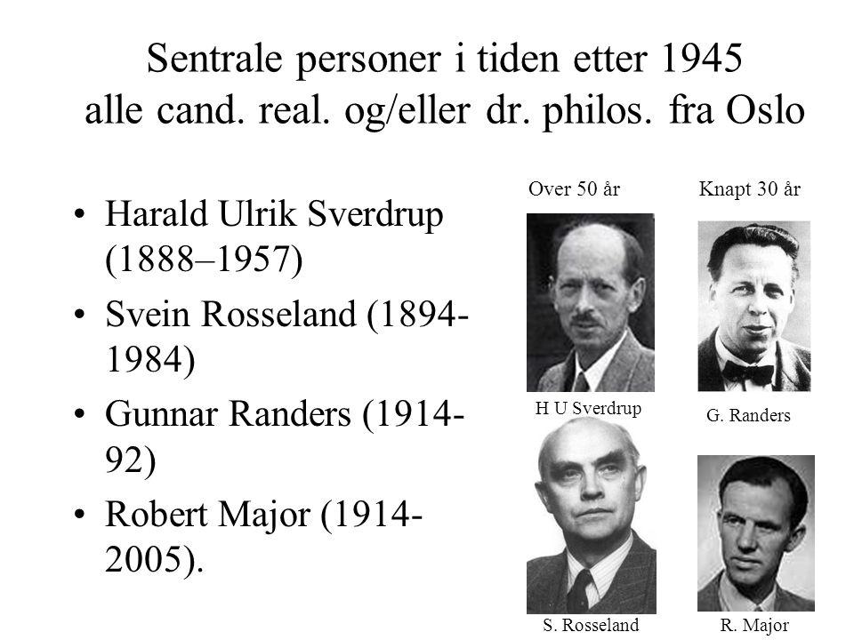 Sentrale personer i tiden etter 1945 alle cand. real.