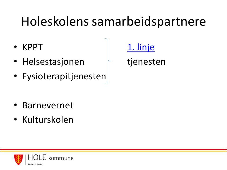 Holeskolens samarbeidspartnere KPPT 1. linje1.