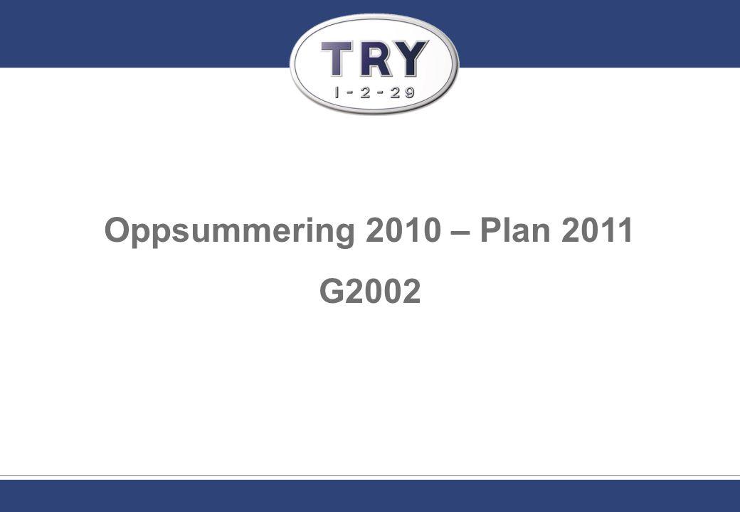 Oppsummering 2010 – Plan 2011 G2002