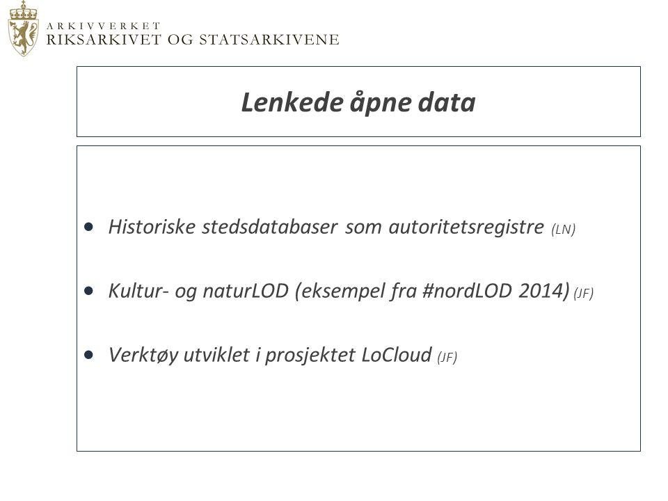  … er en database over alle de viktigste administrative områdene som har eksistert i Norge fra 1600-tallet til i dag.