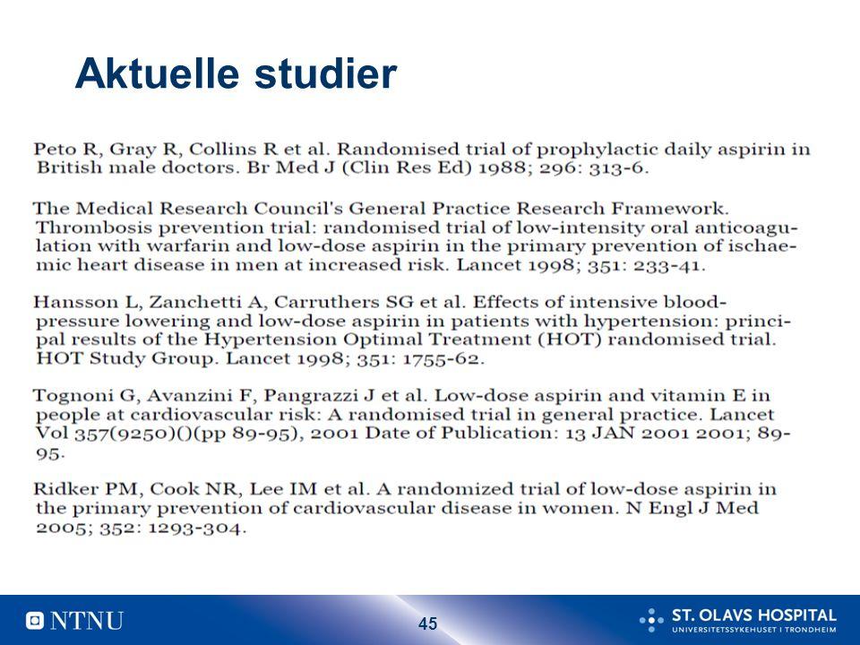 45 Aktuelle studier