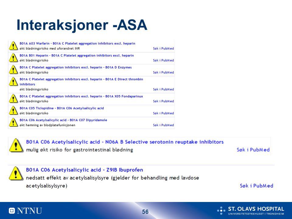 56 Interaksjoner -ASA