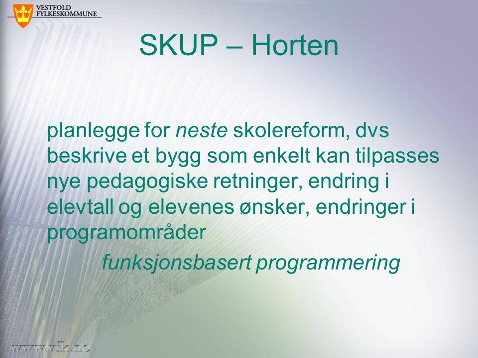 SKUP – Horten planlegge for neste skolereform, dvs beskrive et bygg som enkelt kan tilpasses nye pedagogiske retninger, endring i elevtall og elevenes