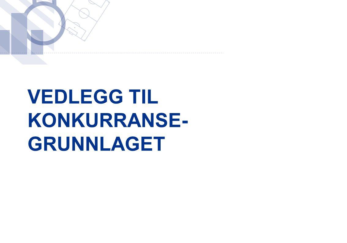VEDLEGG TIL KONKURRANSE- GRUNNLAGET
