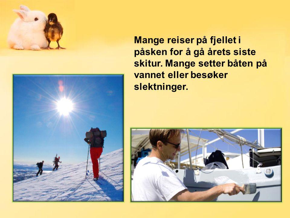 Mange reiser på fjellet i påsken for å gå årets siste skitur.