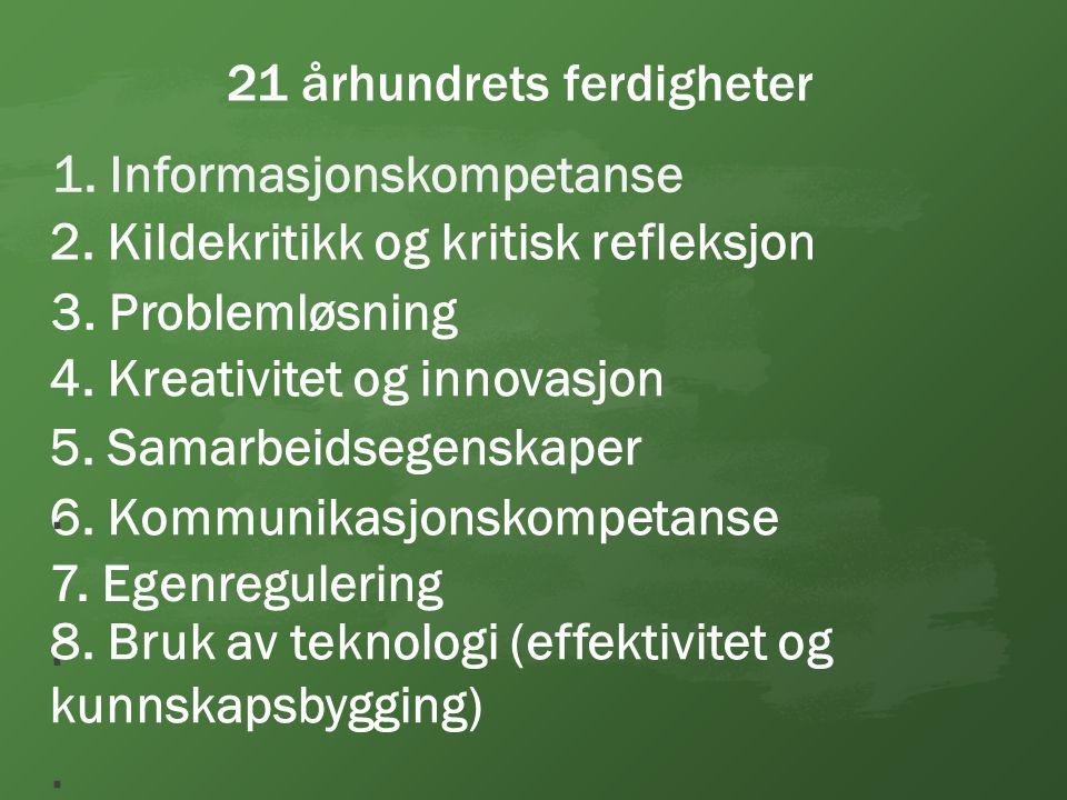 6. Kommunikasjonskompetanse 5. Samarbeidsegenskaper.