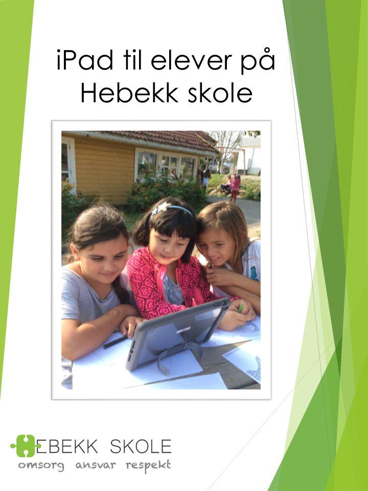 iPad til elever på Hebekk skole