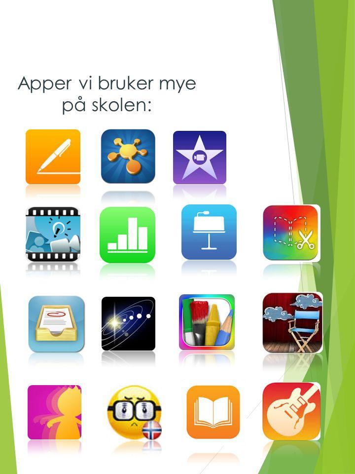 Apper vi bruker mye på skolen: