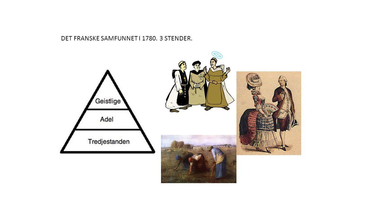 DET FRANSKE SAMFUNNET I 1780. 3 STENDER.
