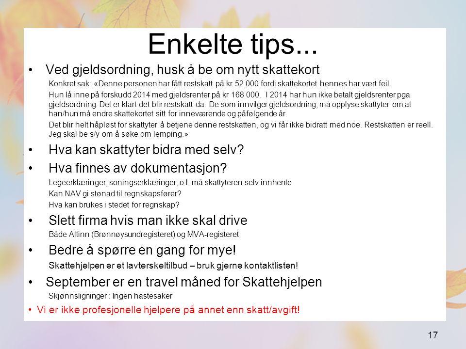 Enkelte tips...
