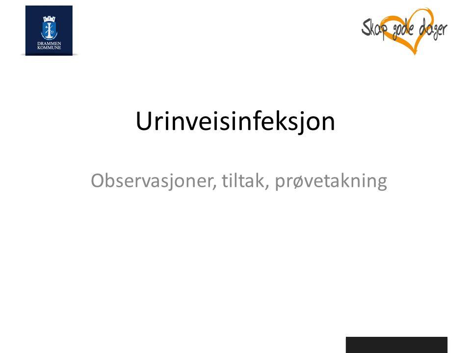 Urinveisinfeksjon Observasjoner, tiltak, prøvetakning