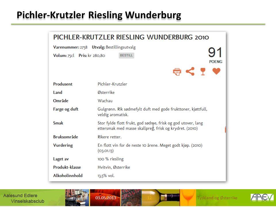 Pichler-Krutzler Riesling Wunderburg 03.05.2013 Tyskland og Østerrike12