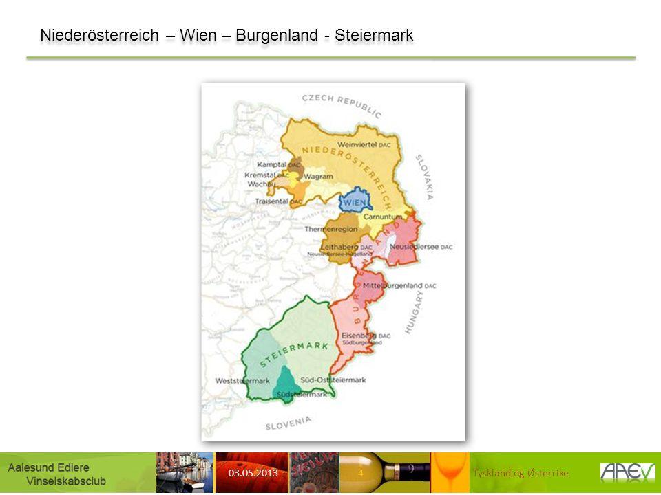 http://www.aperitif.no/Vintips/vin/Ut-av-skapet Det er lett å sammenligne Østerrike med Tyskland: Språket er det samme, mange drue- og vintyper er like på tvers av grensen, den østerrikske vinloven følger i store trekk den tyske og historikken har en del fellestrekk.