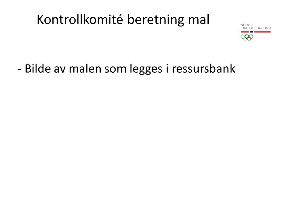 Kontrollkomité beretning mal - Bilde av malen som legges i ressursbank