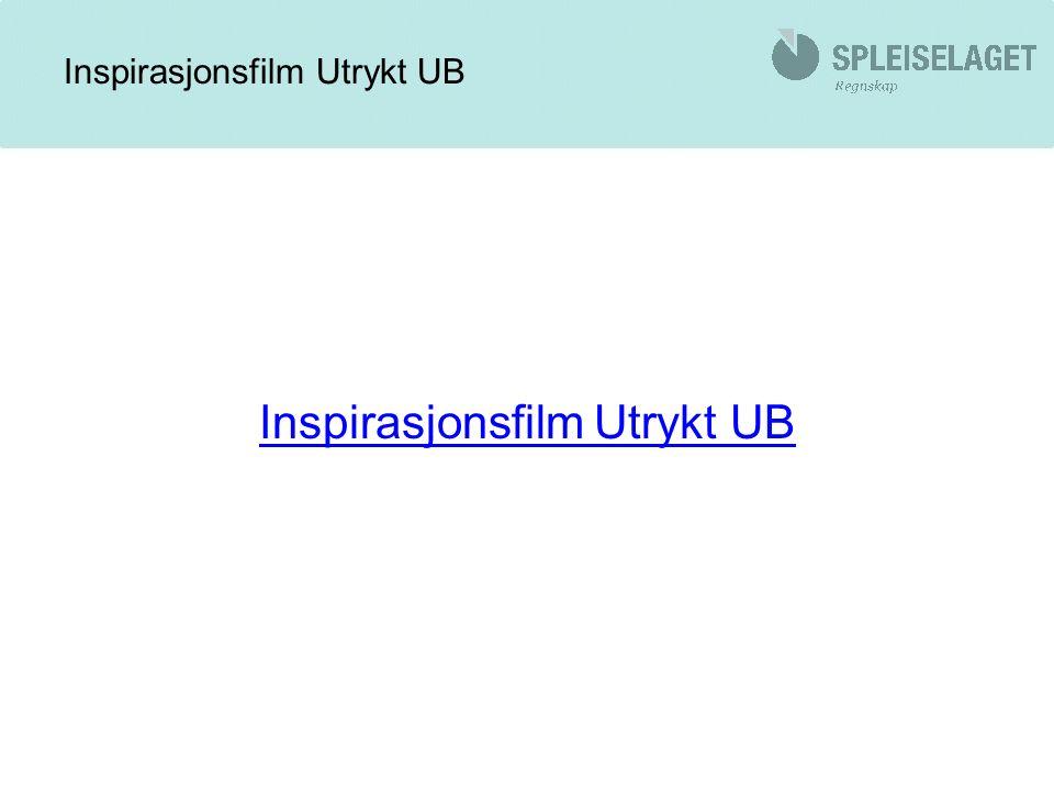 Inspirasjonsfilm Utrykt UB
