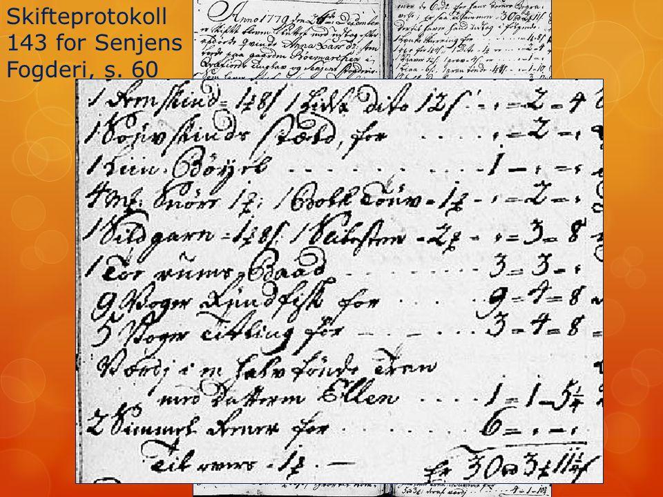 Skifteprotokoll 143 for Senjens Fogderi, s. 60