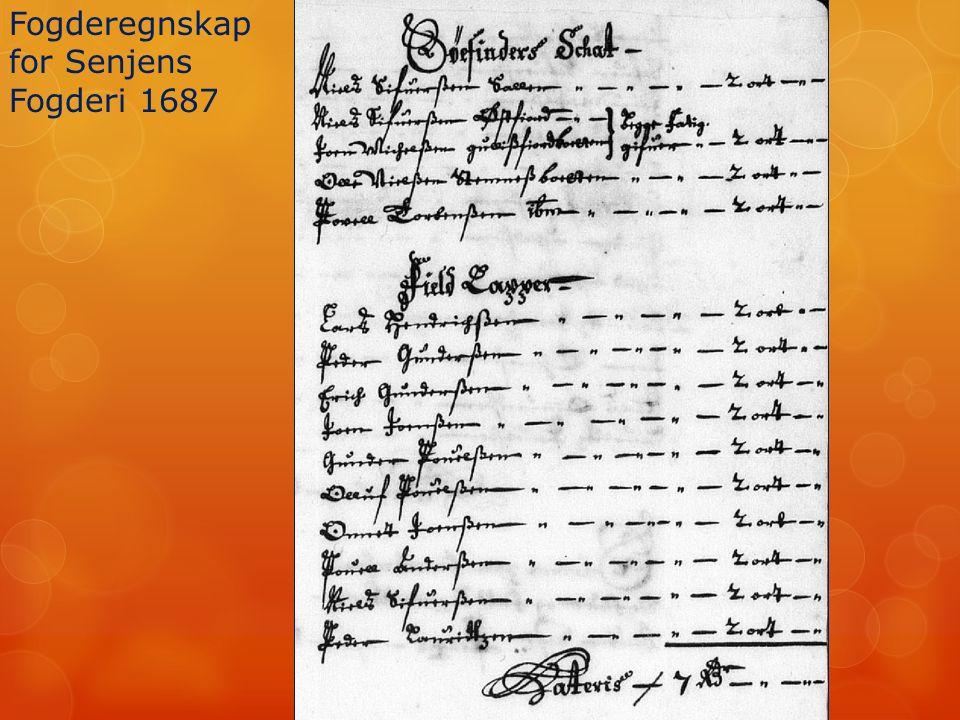 Fogderegnskap for Senjens Fogderi 1687