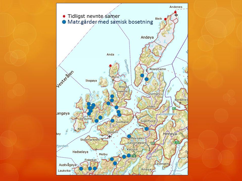 Matr.gårder med samisk bosetning