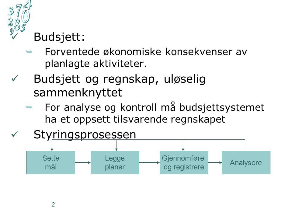 2 Budsjett:  Forventede økonomiske konsekvenser av planlagte aktiviteter.