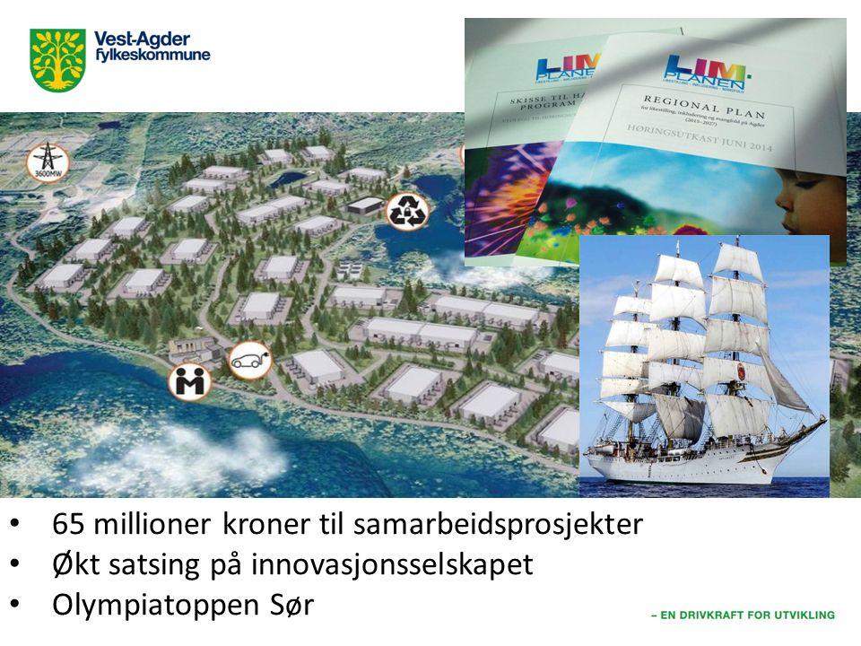 65 millioner kroner til samarbeidsprosjekter Økt satsing på innovasjonsselskapet Olympiatoppen Sør