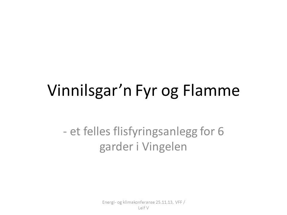 Vinnilsgar'n Fyr og Flamme - et felles flisfyringsanlegg for 6 garder i Vingelen Energi- og klimakonferanse 25.11.13, VFF / Leif V