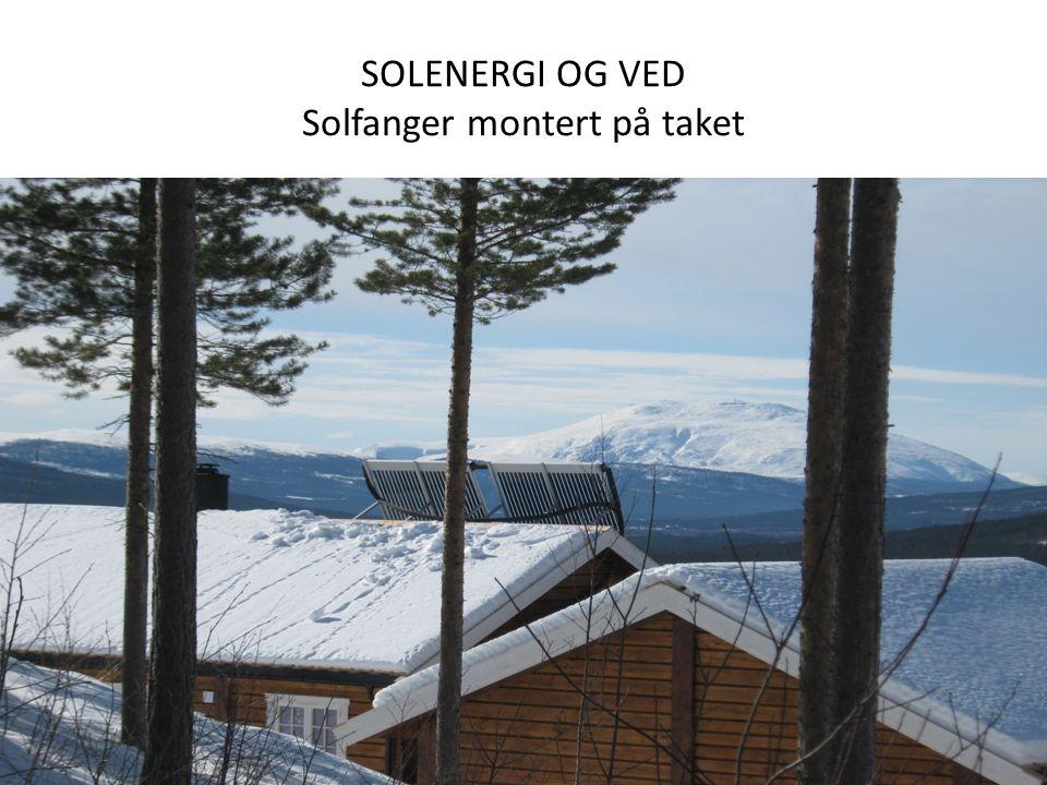 SOLENERGI OG VED Solfanger montert på taket Energi- og klimakonferanse 25.11.13, VFF / Leif V
