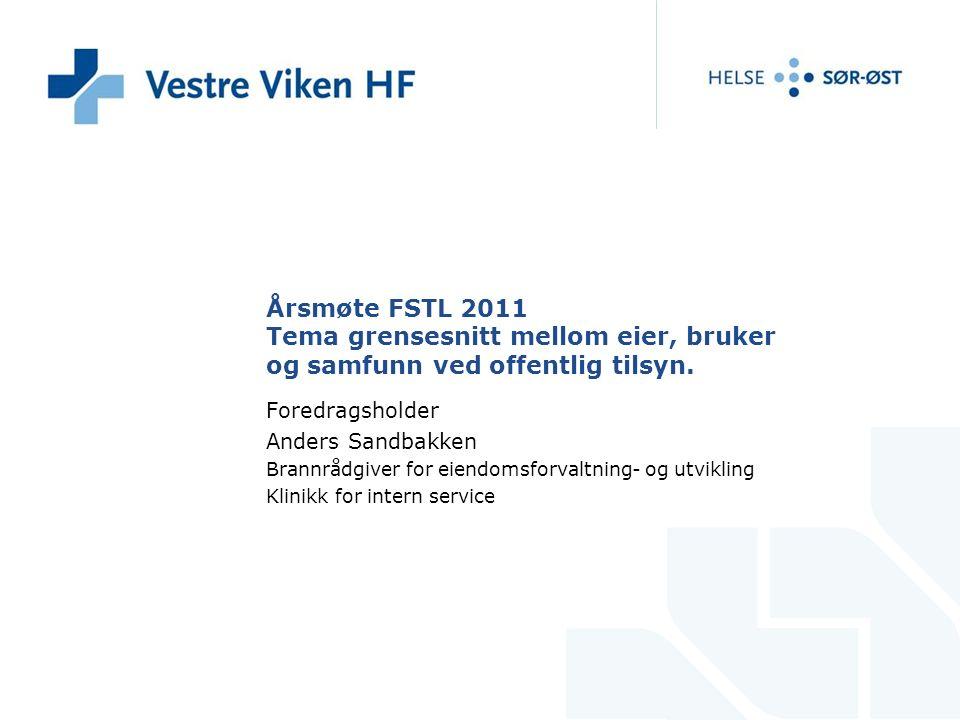 Årsmøte FSTL 2011 Tema grensesnitt mellom eier, bruker og samfunn ved offentlig tilsyn.