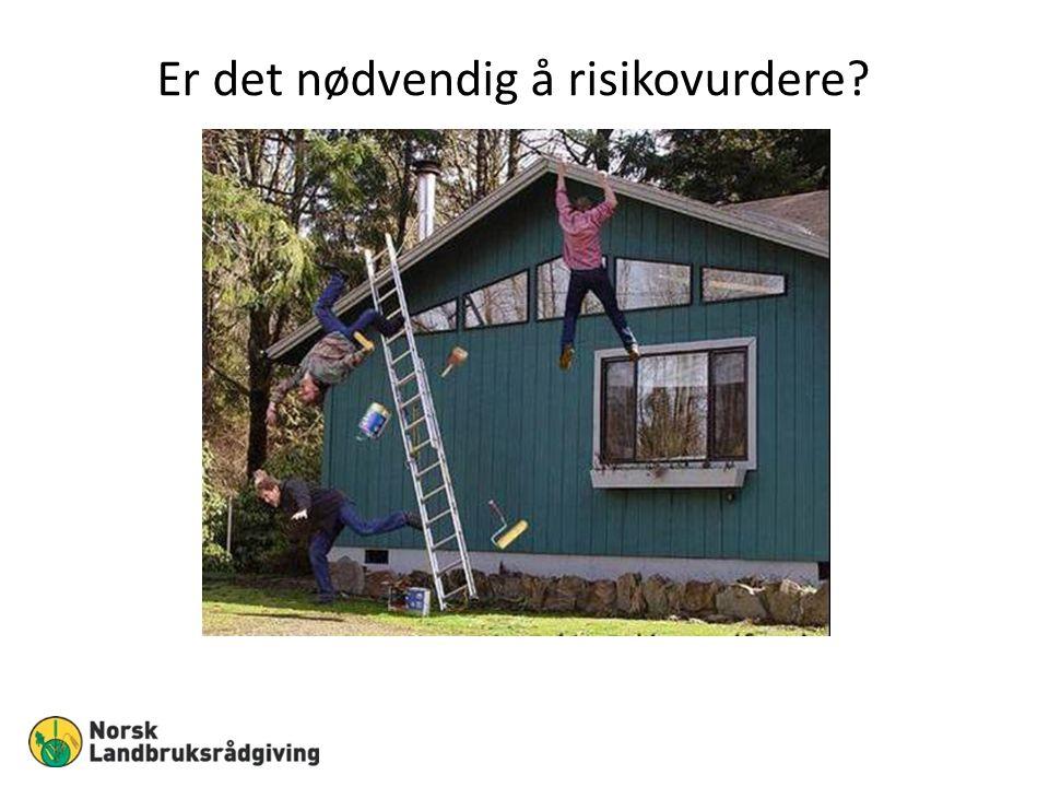 Er det nødvendig å risikovurdere?
