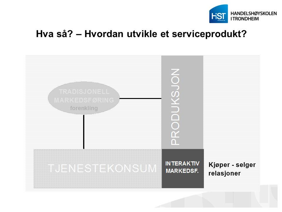 Hva så? – Hvordan utvikle et serviceprodukt?