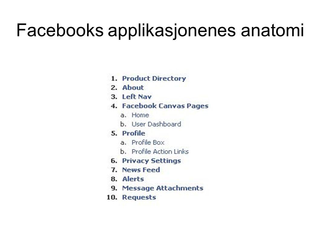 Hvor mange applikasjoner finnes.● I Facebook ligger det i applikasjonsfolderen 20620 stk.